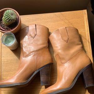 MANGO boots camel sz 39
